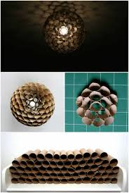 Toilet Paper Roll Lampshade Recyclart