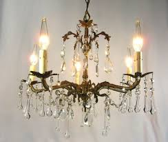 antique br chandelier made in spain image and candle