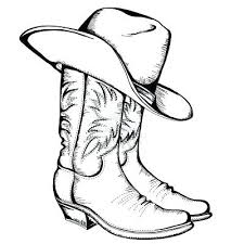 Cowboy Boots Coloring Pages Western Page Sheets
