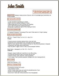 Resume For Cleaning ...
