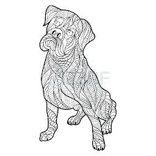 Printable Boxer Dog Coloring Pages