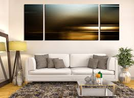 3 Piece Wall Decor Abstract Multi Panel Canvas Panoramic Canvas