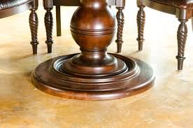 comely wood pedestal table base for glass top