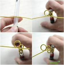 4 loop the leftover wire in anti clockwise direction