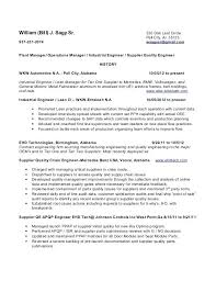 Manufacturing Engineer Resume Sample industrial engineer resume sample – Resume Sample Web