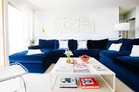 blue velvet sectional. Modren Sectional Sectional Blue Velvet Chaise With E