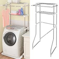 Laundry rack slide-bar with washing machine rack PORISH stainless steel  (washing machine rack washing machine cabinets laundry storage hanger with  sanitary ...