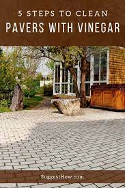 how to clean pavers with vinegar