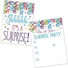 surprise birthday party invite amazon com surprise birthday party invitations for kids and adults