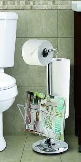 Chrome Toilet Paper Holder Magazine Rack Wall Mount Toilet Double Roll Tissue Holder Magazine Book Rack 12