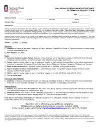 Eeoc Information Form Civil Service