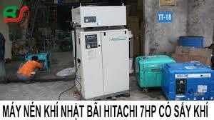 Máy Nén Khí ] Máy Bơm Hơi Nhật Cũ Hitachi 7HP - Có Sấy Khí - Siêu Đẹp -  YouTube