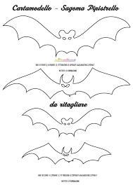 Sagome Pipistrelli Da Stampare Colorare E Ritagliare Halloween