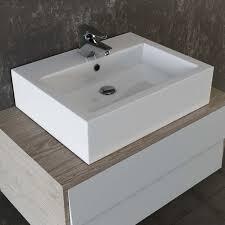 VILSTEIN© Keramik Waschbecken Hängewaschbecken Aufsatzwaschbecken