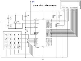 interfacing keypad 8051 microcontroller using keil c at89c51 circuit diagram interfacing keypad 8051 microcontroller using keil c