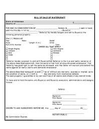 watercraft bill of sale fillable online arkansas bill of sale for watercraft or boat