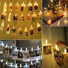 Photo Clip String Lights Walmart Eeekit 7 8 Feet Waterproof 20 Led Photo Clip String Fairy