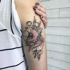 татуировки для девушек на руке хиты 2018 дотворк акварель минимал