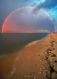 Delaware Sunrise Sunset Chart Arc Of A Sunset Rainbow Over Big Stone Beach Delaware Bay