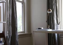diy raw edge linen curtains budget edition