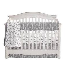 gray woodland crib bedding