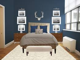 bedroom colors brown and blue. Bedroom: Bedroom Colors Vibrant Blue Complete With Storage Space Brown Faux Leather Bench Wall And H