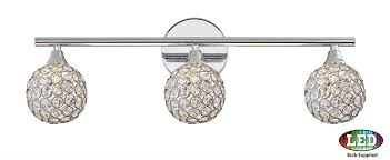 bathroom vanity light fixture. Quoizel PCSR8603CLED Platinum Collection Shimmer Polished Chrome LED 3-Light Bathroom Vanity Light Fixture. Loading Zoom Fixture O