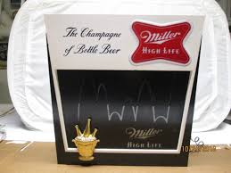 Miller Display Light Miller High Life Beer Motion Sign Bouncing Ball Lighted Display