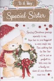 To A Very Special Sister Christmas Greetings Personalised Braille Xmas Cards
