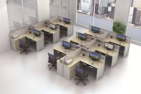 modern office cubicle design. bright new design office open area modern staff cubicle