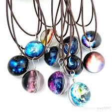space glass space glass galaxy pendant