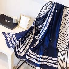 Designer Silk Scarves High Grade Luxury Designer Silk Scarves Fashionable Ladies Spring And Summer New Printed Monogram Silk Scarves 4 Styles 2019 Hot Sale Knitted Scarf