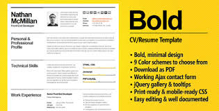 Smart Resume Beauteous Bold A CVResume Template For Smart Professionals Meet John