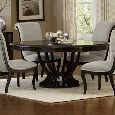 savion espresso round oval pedestal dining table