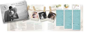 Wedding Brochure Design For Wedding Planner In Malta