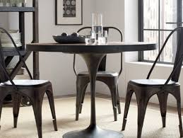 restoration hardware small spaces. Fine Restoration Remy Dining Chairs In Vintage Steel Finish 99 Each And Aero Round  Table 1295 With Restoration Hardware Small Spaces L