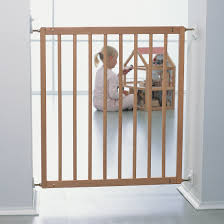 image of wooden baby gates for stairs