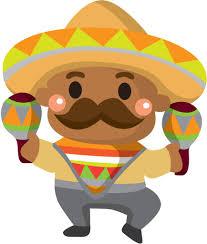 フリーイラスト素材 クリップアート ソンブレロ メキシコ 男性 男