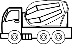 Small Picture Construction Cement Truck Coloring Page Wecoloringpage