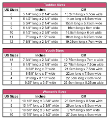 Womens Slipper Size Chart Crochet Slipper Size Chart Perfect Chart For Sizing