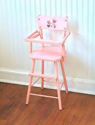 1950 s wooden pink doll highchair