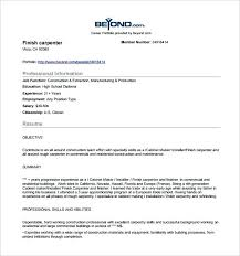 Carpenter Resume Inspiration 4221 Carpenter Resume Objective Finish Carpenter Resume Samples