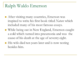 ralph waldo emerson by nabimarinat ppt video online  ralph waldo emerson