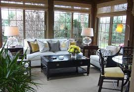 sun room furniture. Designs Ideas:Modern Sunroom With White Sofa And Cushions Also Modern Table Lamps Black Sun Room Furniture L
