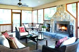 4 season sunroom four rooms with fireplaces outdoor propane fireplace porch rustic73 with