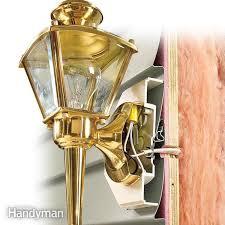 exterior light fixture mounting plate. vinyl siding lights: how to mount lights using a mounting block exterior light fixture plate o