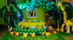 Jungle Theme Decorations Balloon Ideas Jungle Themed Decoration Youtube