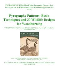 Pyrography Designs Book Readonline Pyrography Patterns Basic Techniques And 30