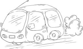 漫画車イラスト パブリックドメインのベクトル