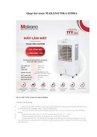 Quạt hơi nước MAKANO MKA 03500A Pages 1 - 2 - Flip PDF Download